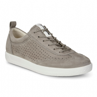 ECCO Ladies Shoes Soft 1 Warm Grey Nubuck